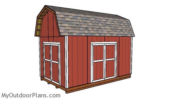 10x16 Barn Shed With Loft Plans Shed Plans Wood Shed Plans Diy Storage Shed Plans