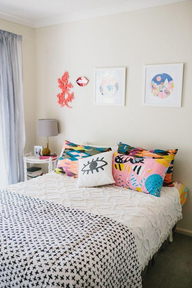 Laura Blythman's Melbourne Neon Dream Home Bedroom decor