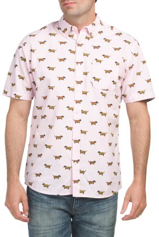 fa007e2993 Short Sleeve Hot Dog Print Shirt