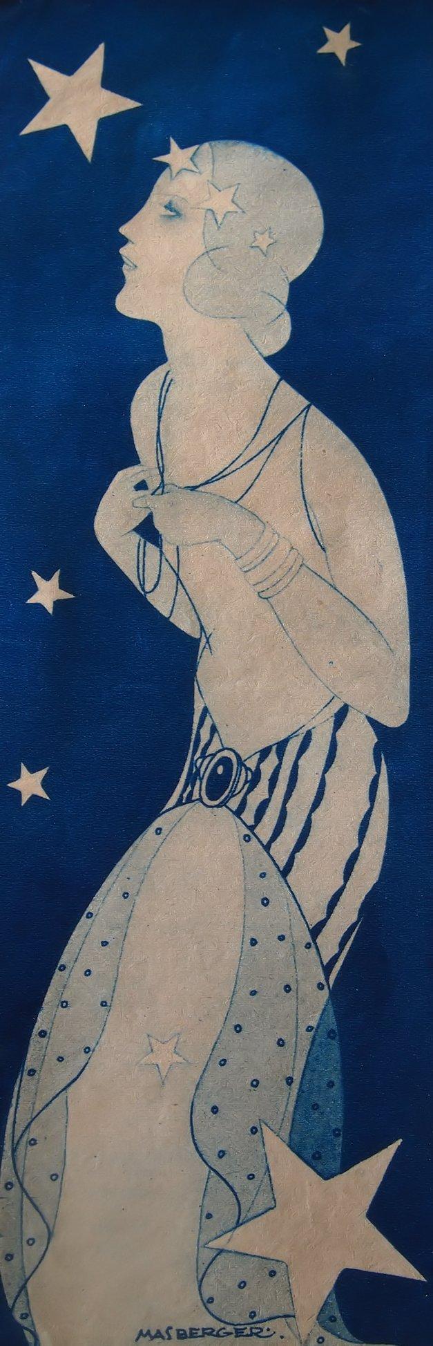 Art deco illustration by carlos masberger 1935 gente for Art deco illustration