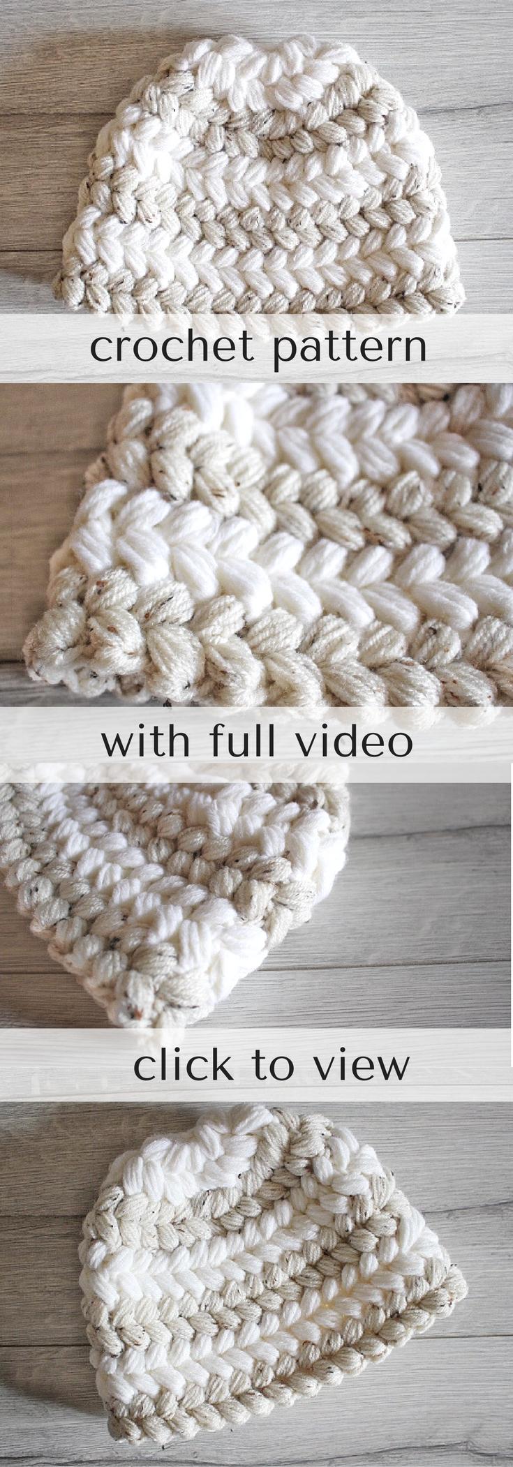 Crochet Pattern, Chunky Crochet Pattern, Puff Stitch Pattern, Mom ...