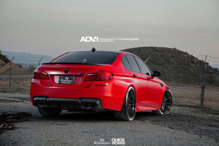 Matte Red Bmw F10 M5 With Adv 1 Wheels Bmw Matte Red Bmw M5