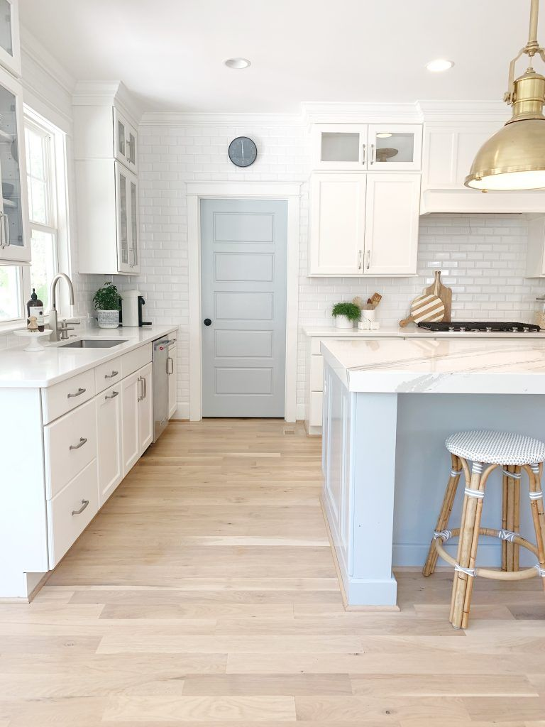 Photo of Sherwin Williams Krypton in My Kitchen – Chrissy Marie Blog