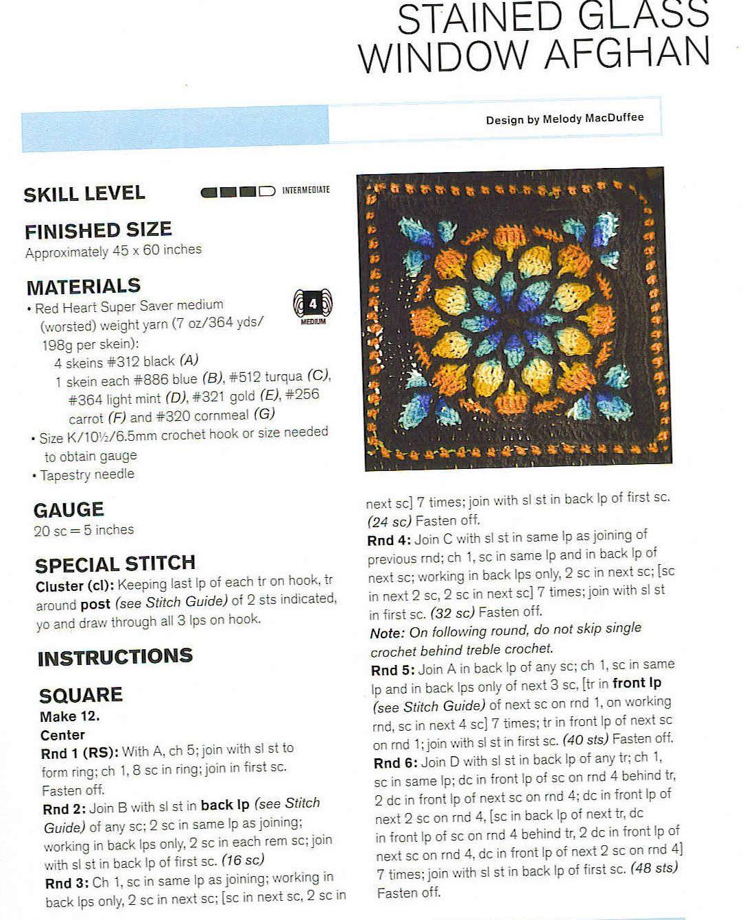 Stained Glass Window Crochet Squares Blanket Jpg 1 089 1 342
