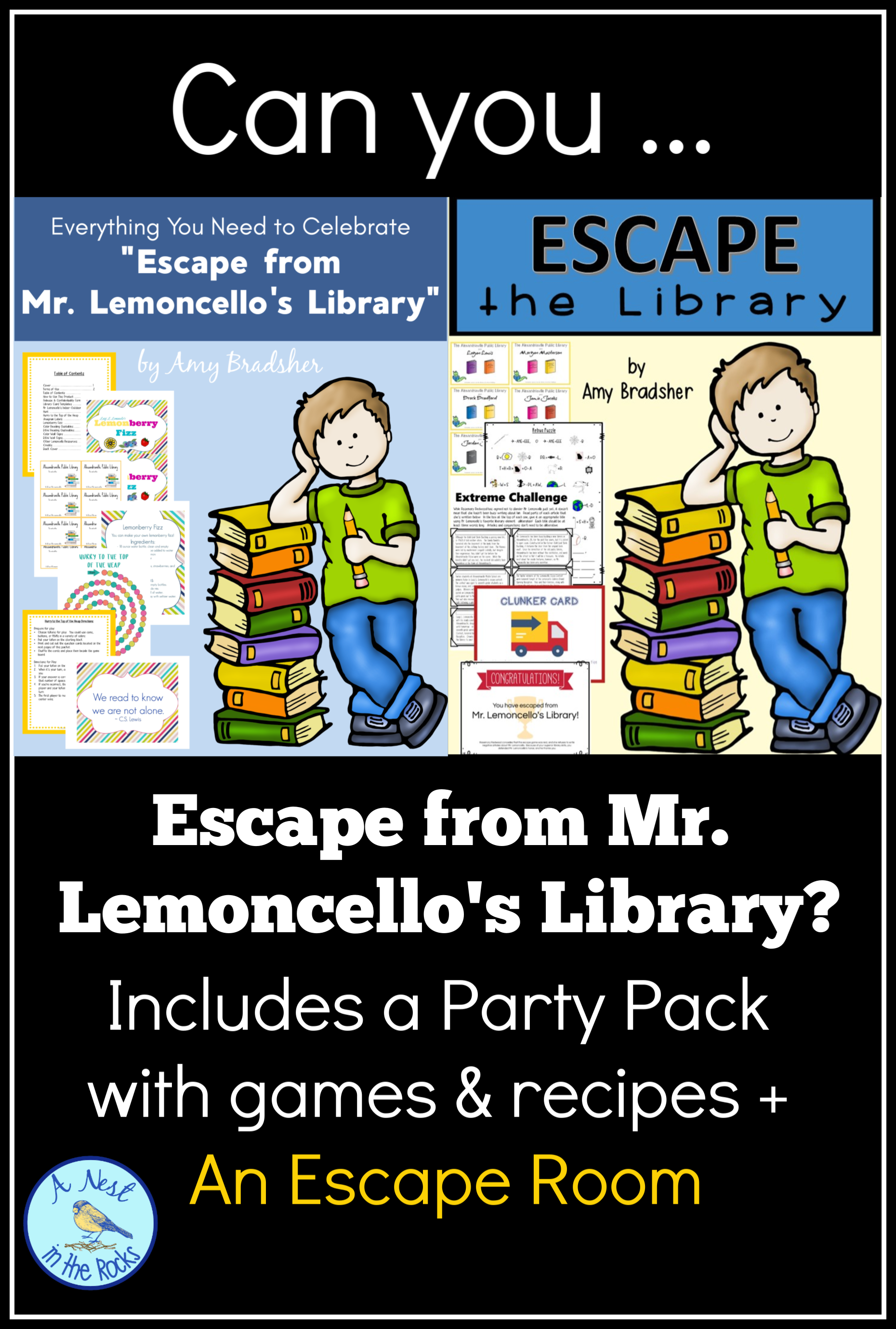 Escape From Mr Lemoncello S Library Novel Resources