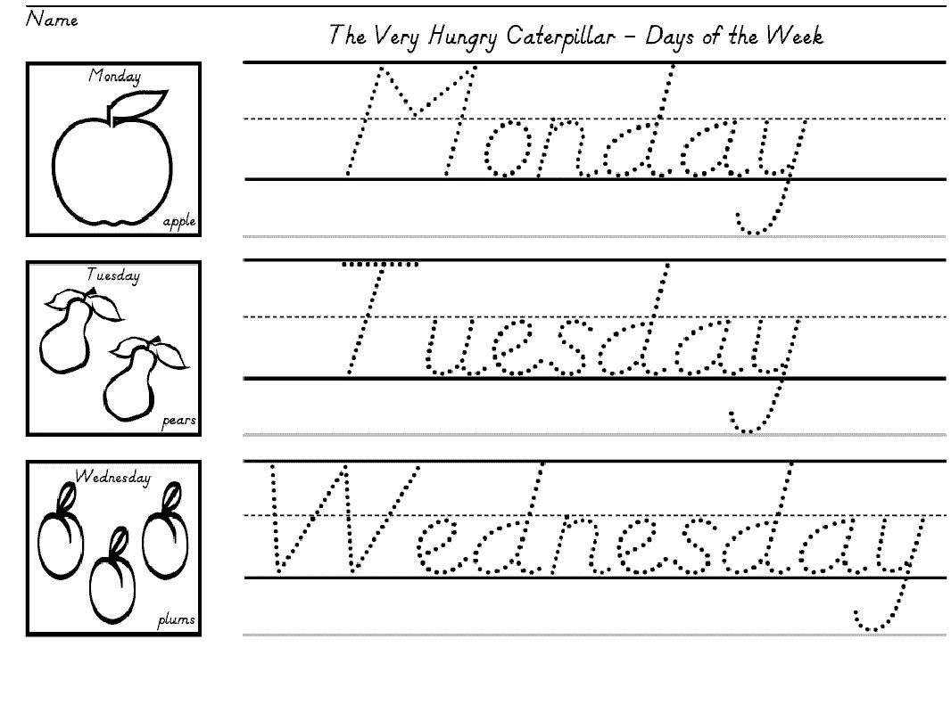 10 Children S Printable Handwriting Worksheets In