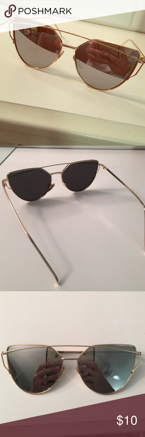 black and gold aviators  Black and gold cat-eye aviators Black and gold cat eye aviators ...