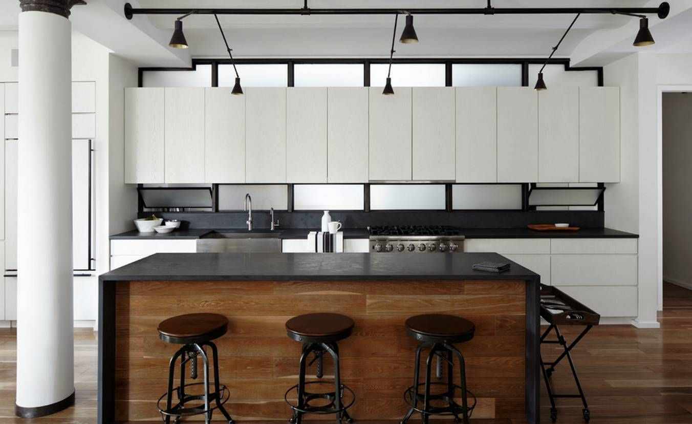 Contemporary kitchen with slate kitchen countertops durable slate