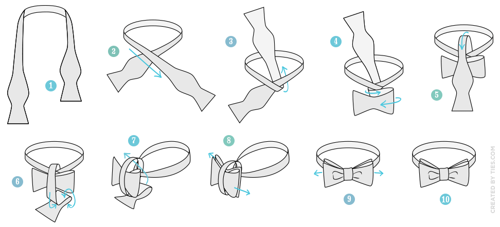 The Bow Tie Tying Instructions A good thing to know.