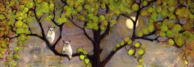 Two Owls in the Moon Light - Blenda Tyvoll