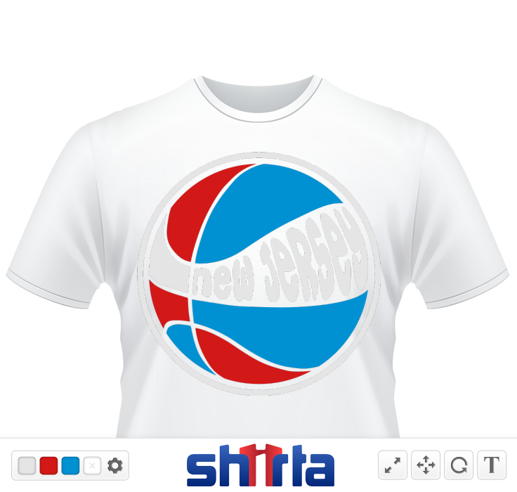 New Jersey basketball in team colors. Design by FANTAG. Stand out among the crowd.