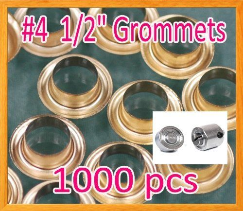 1000 4 1 2 Grommet And Washer Brass Eyelet W Die Set Grommets
