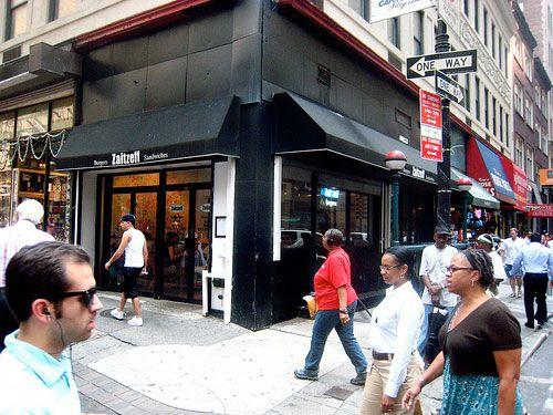 Zaitzeff - The Best NY burgers  72 Nassau Street, New York NY 10038.  212-571-7272 zaitzeffnyc.com.