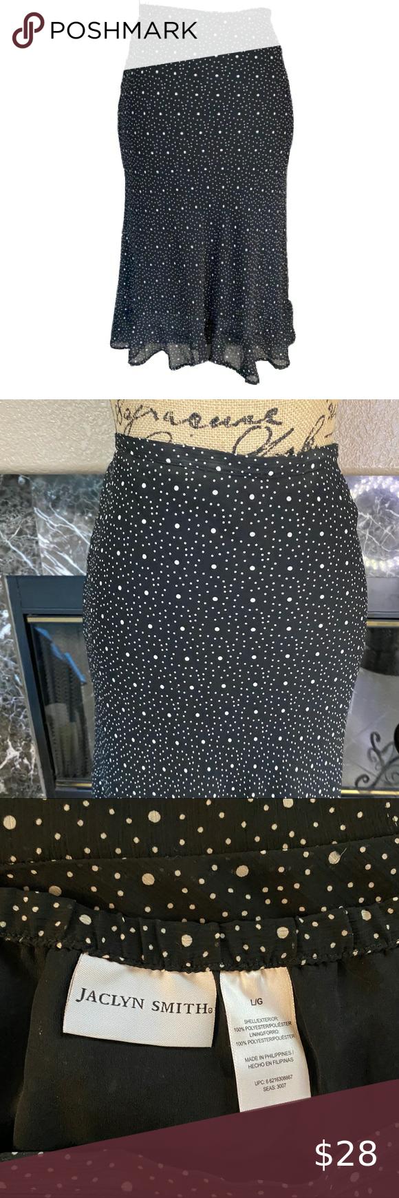 Jaclyn Smith Women S Black Skirt Size L