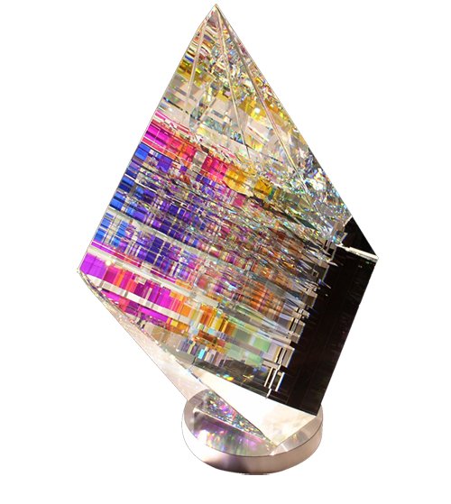 Aerial Cold Glass Sculpture By Jack Storms Artist Video Here