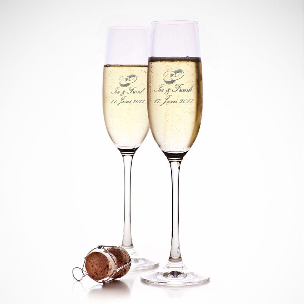 Sektglaser Zur Hochzeit Sekt Sektglaser Mit Gravur Und Glas