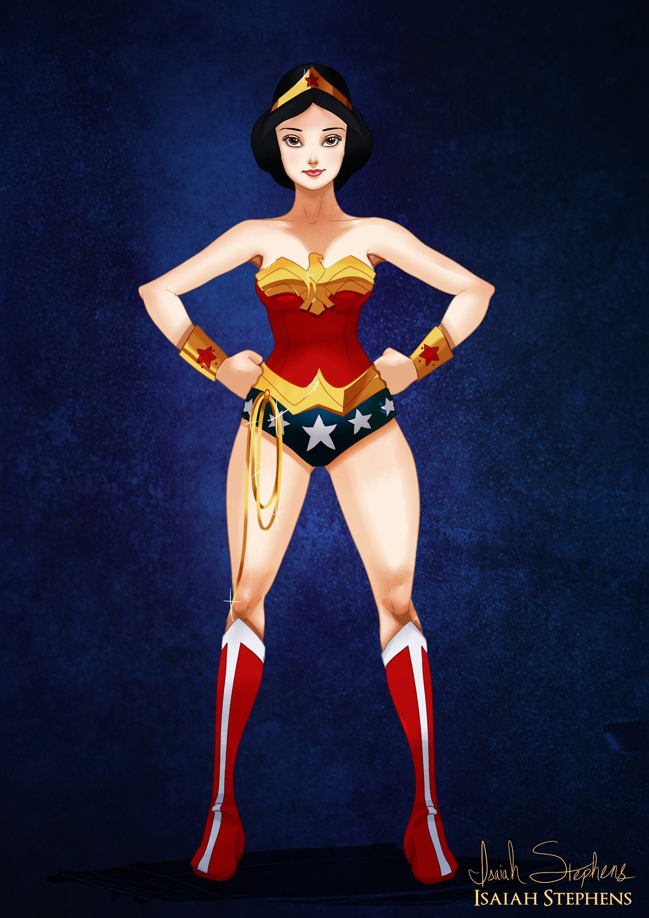 Blancanieves como Wonder Woman