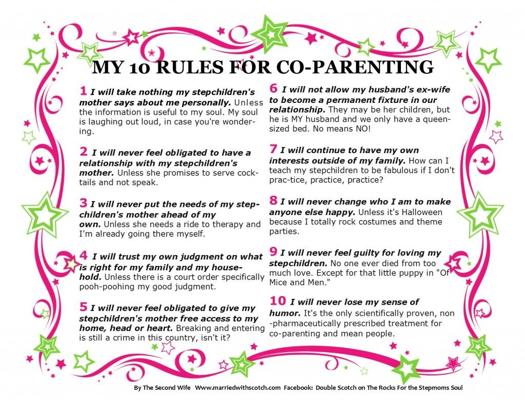 Your Printable 10 Rule For Co Parenting This List Was