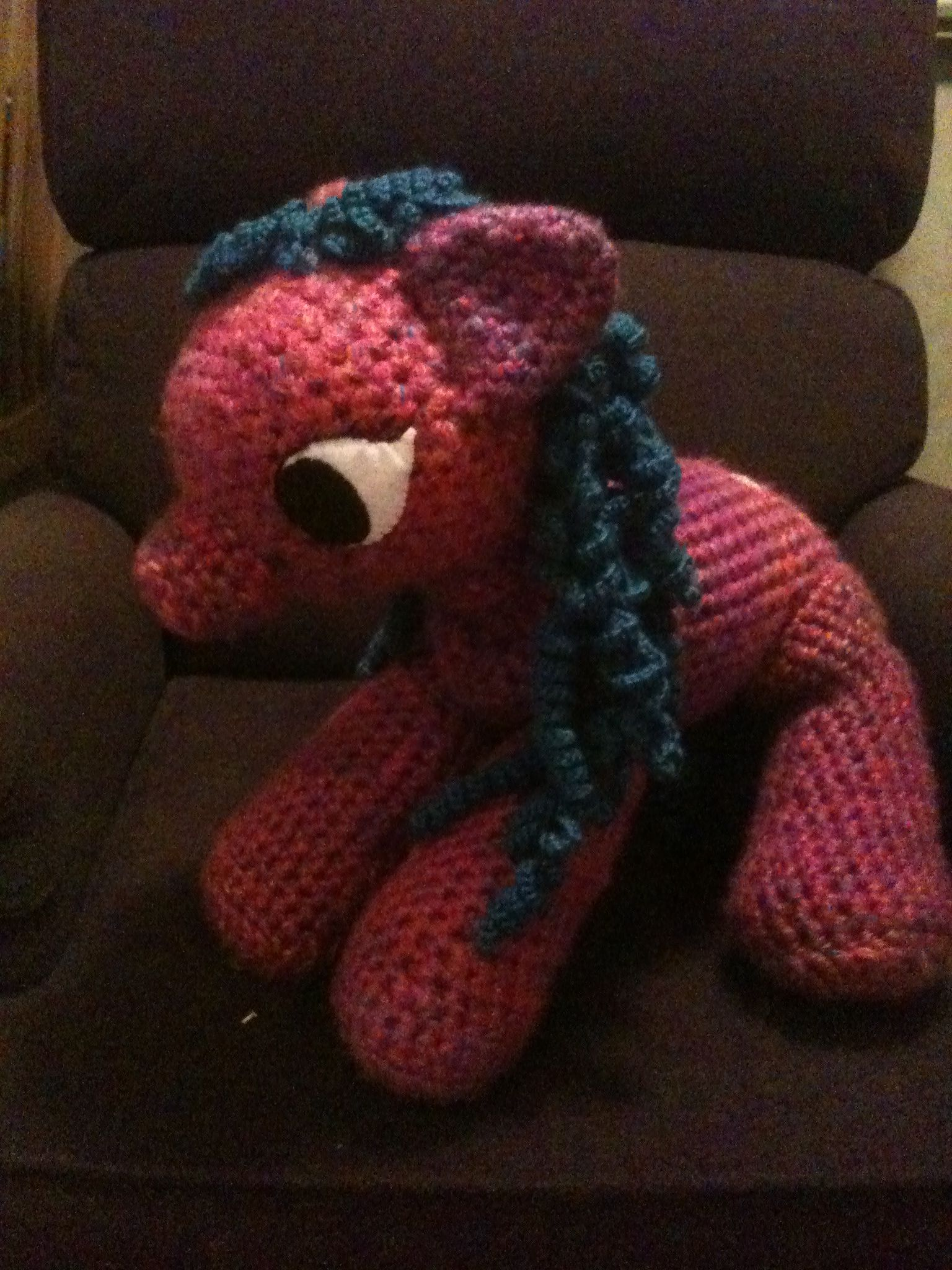 My pony from a pattern. The mane and tail took forever.
