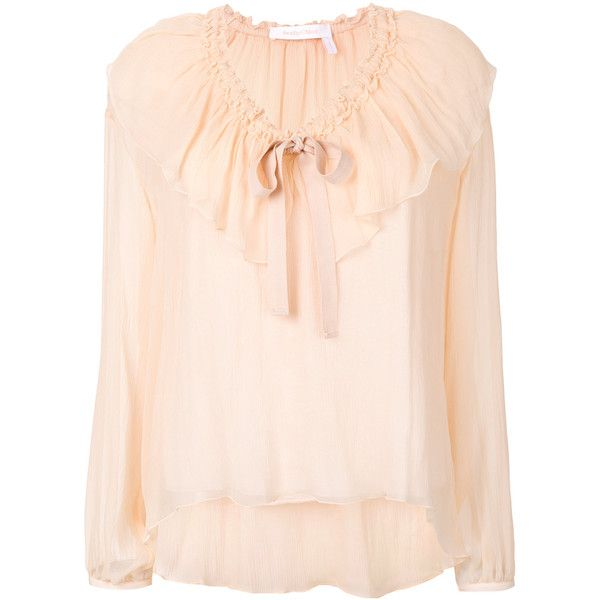 Blouse350 Ruffle Chloé Front See By f7IYyvb6g