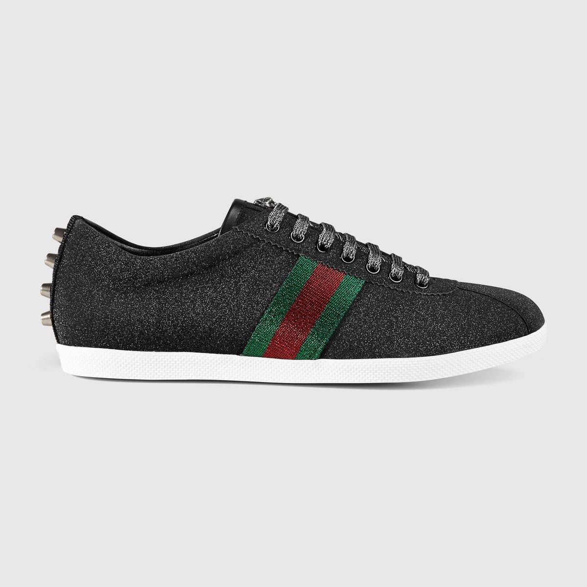 e0658919a2c GUCCI Glitter Web sneaker - black glitter fabric.  gucci  shoes ...