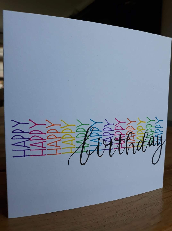 Carte Joyeux Anniversaire Happy Birthday Diy Carte Anniversaire Carte Joyeux Anniversaire Idee Carte Anniversaire