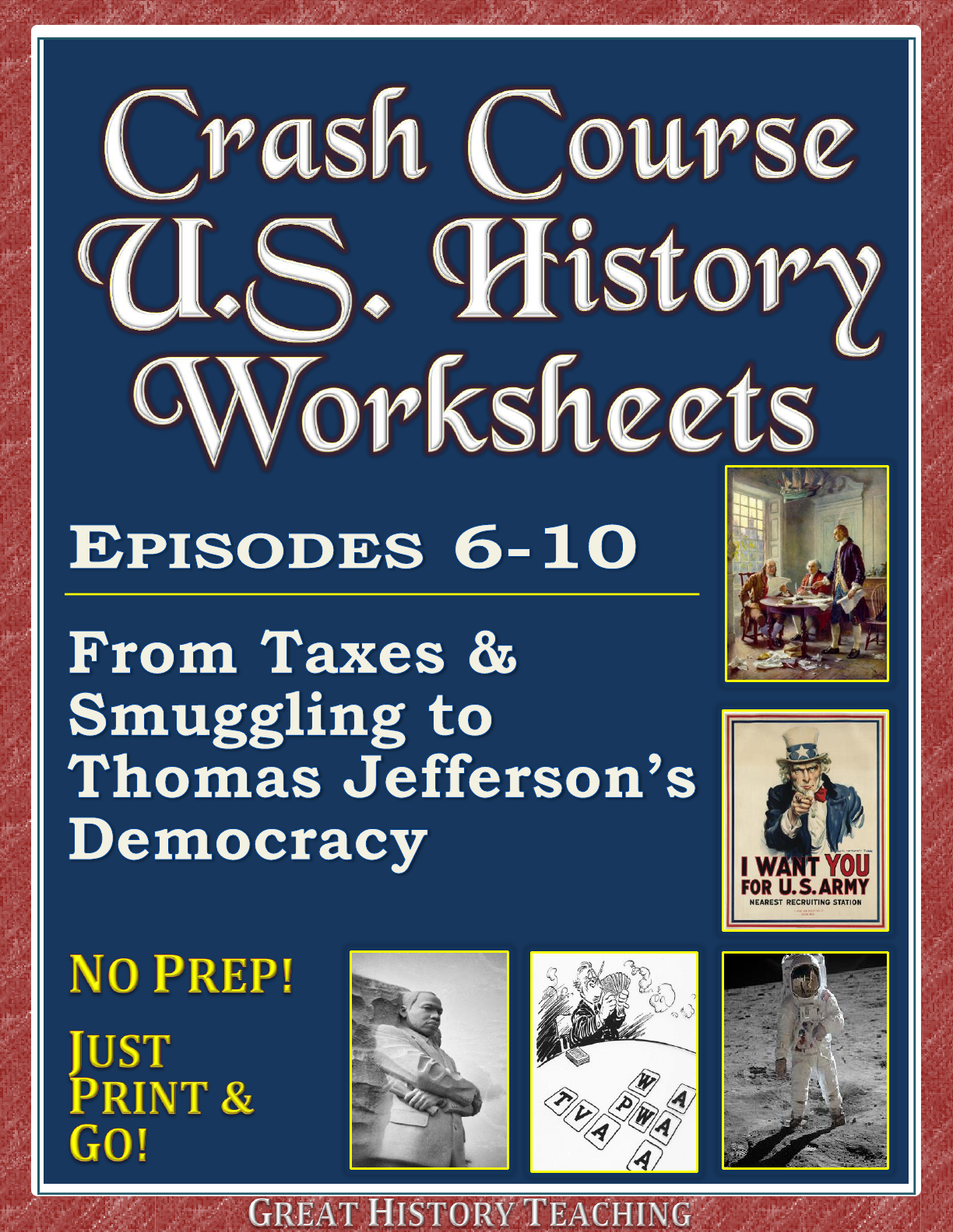 Crash Course Us History Worksheets Episodes 1 15 Bundle