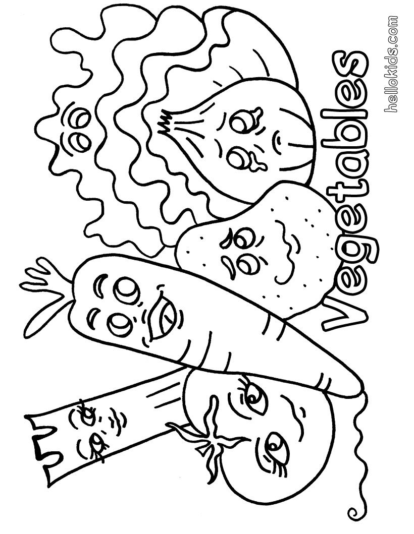 Vegetable Coloring Page 28 | Coloring Pages | Pinterest