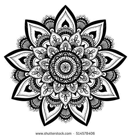 Mandala, highly detailed zentangle inspired illustration