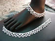 Indian Anklets Bracelet Boho Bare Foot Chain Vintage Ankle Payal Silver Jewelry Pleasant In After-Taste Fashion Jewelry