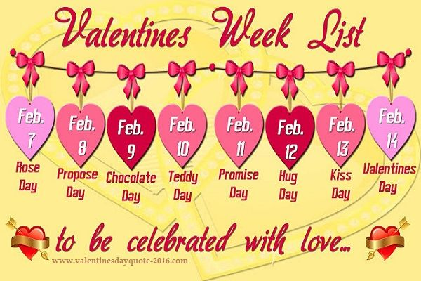 Valentine Day Week Date Sheet Pic Valentine S Day Cards