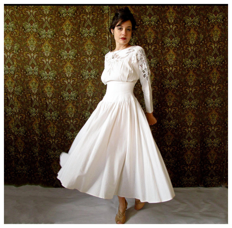 White Linen Wedding Dress Linen Wedding Dress White Linen Wedding Dress Wedding Dresses