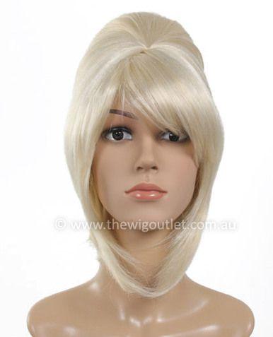 Womens Ab Fab Patsy Style Blonde Bouffant Wig