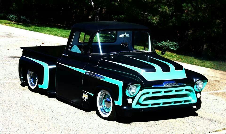 Black n teal | Rides | Pinterest | Teal, Cars and Classic trucks