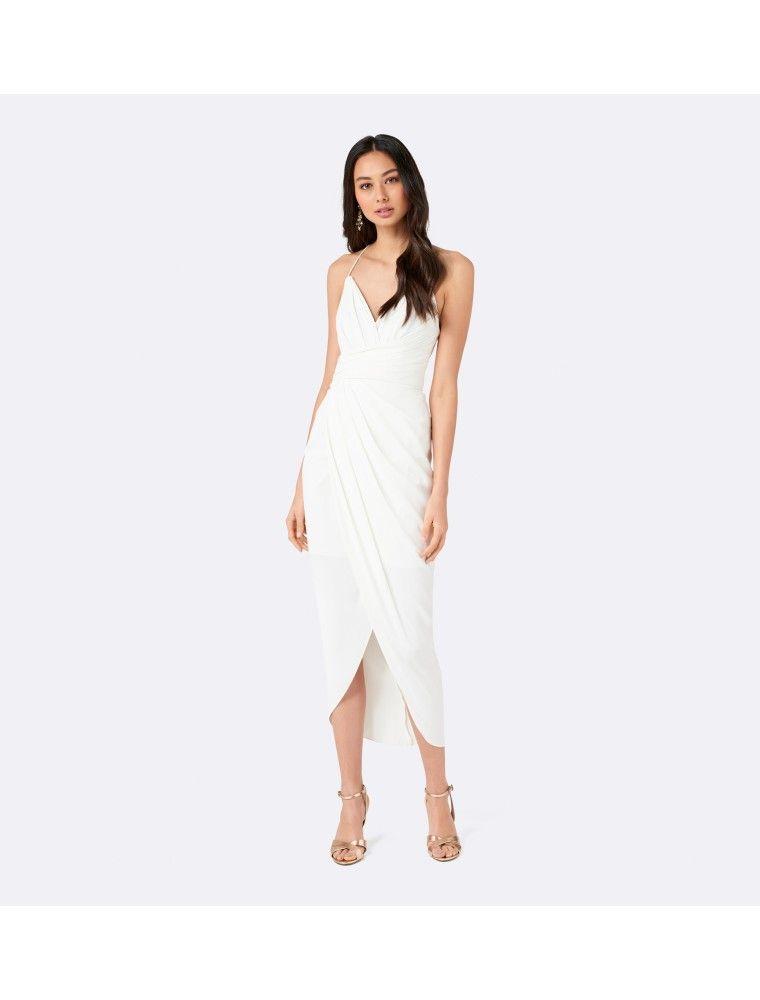 87cd4a5ea81 Charlotte Drape Maxi Dress Porcelain - Womens Fashion