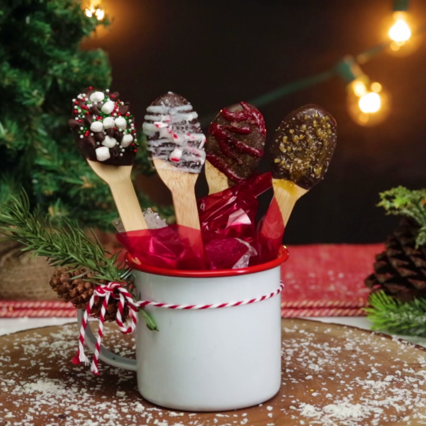 Holiday Hot Chocolate Spoons