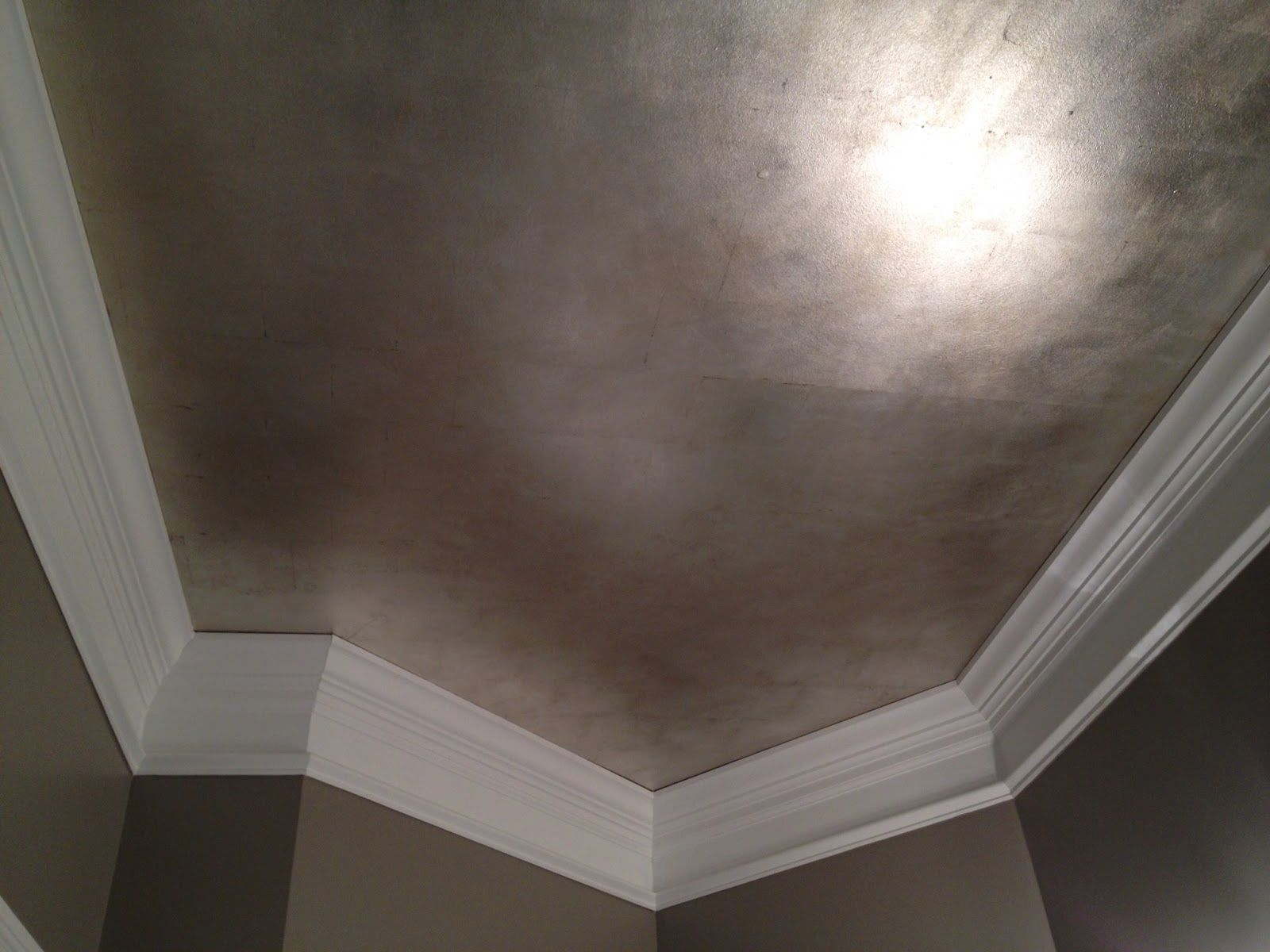 Brushed Silver Metallic Paint Walls Silver Paint Walls Ceiling Design