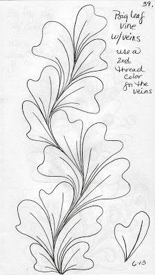 luann kessi quilting sketch book big leaf vines free motion
