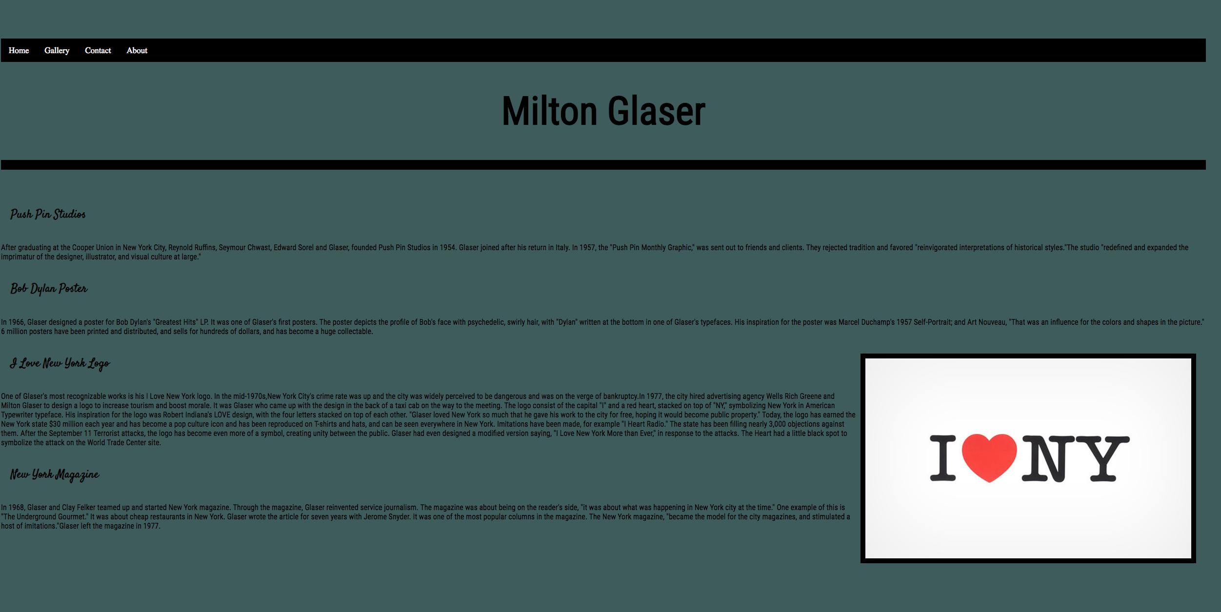 Pin by Anlevis on Website 2019 Milton glaser, I ny, Milton