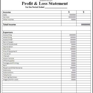 P And L Statement Template Profit And Loss Statement Template  Business  Pinterest .
