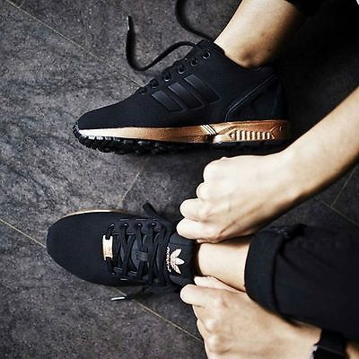 zx flux cool gold