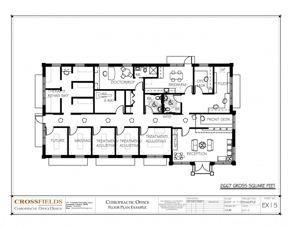 Chiropractic Clinic Floor Plan Closed Adjusting With Massage And