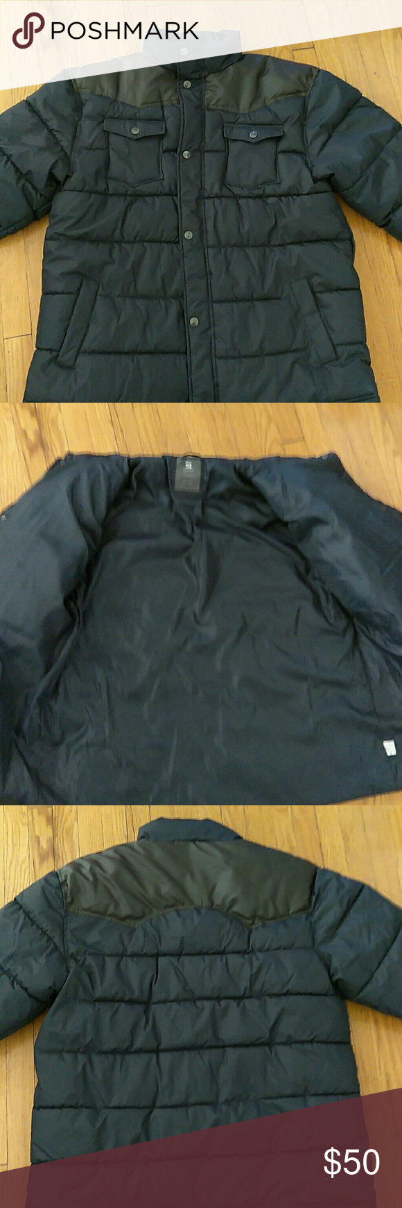 Mens 3xl Puffer Excellent Condition Men S Navy And Brown Puffer Jackets Coats Puffers Navy And Brown Puffer Puffer Jackets [ 1740 x 580 Pixel ]