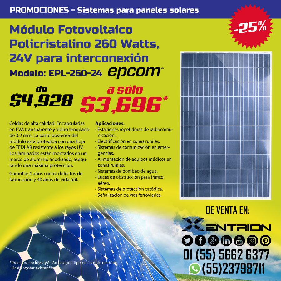 Modulo Fotovoltaico Para Panel Solar Energia Renovable Paneles Solares Energia Solar