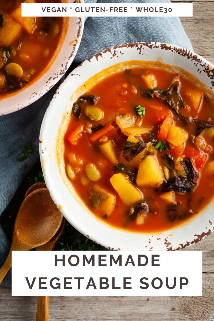 Homemade Vegetable Soup Hearty Healthy Recipe Homemade Vegetable Soups Healthy Soup Recipes Vegan Vegetable Soup