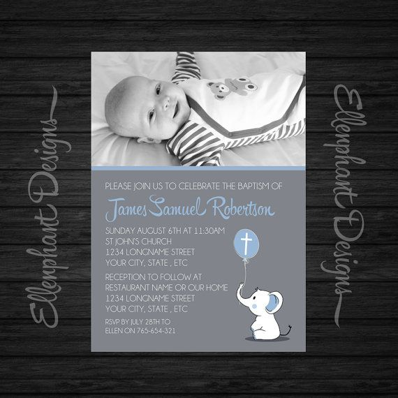 baptism invitation with photo christening landscape photo