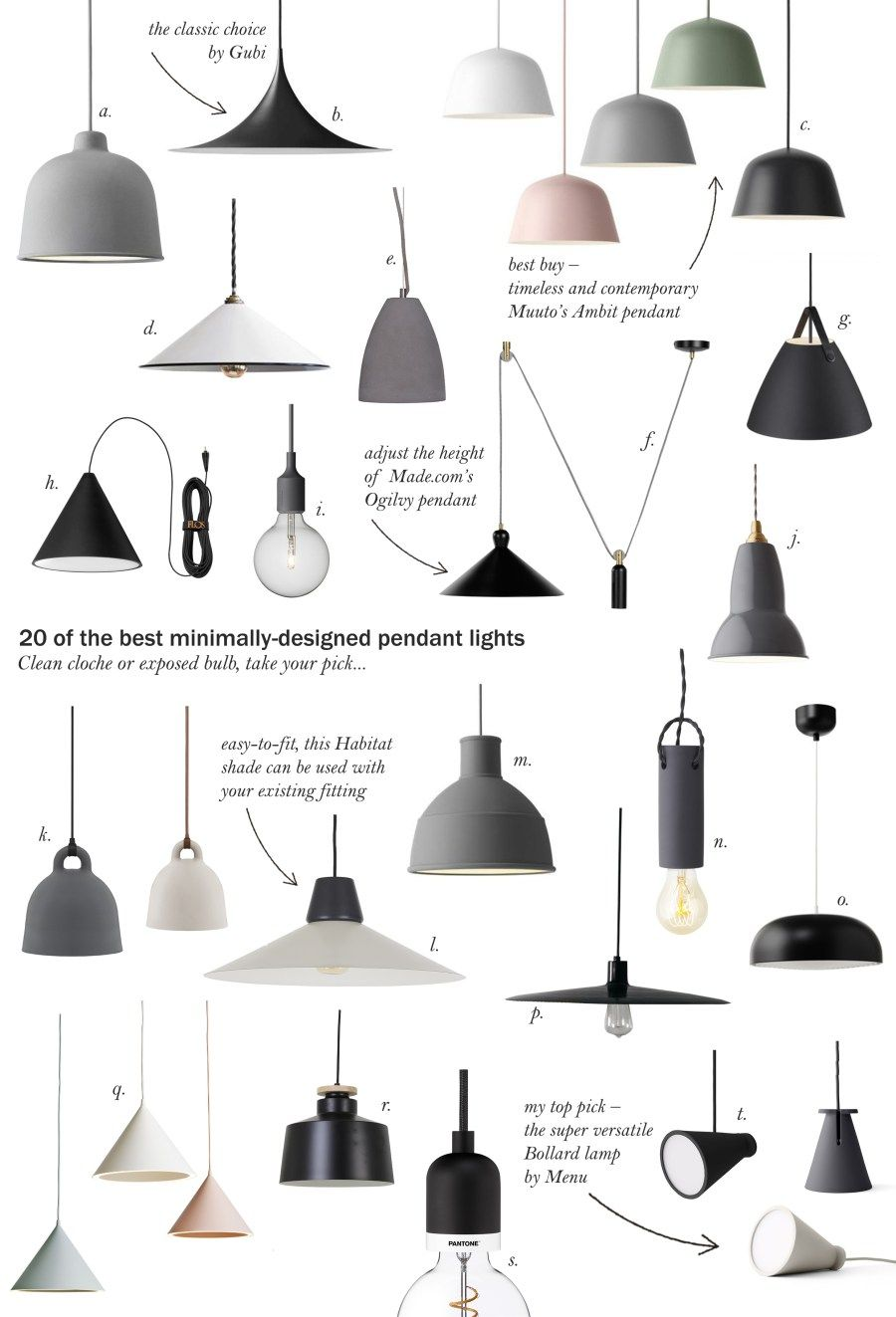 20 of the best minimal pendant lights #pendantlighting