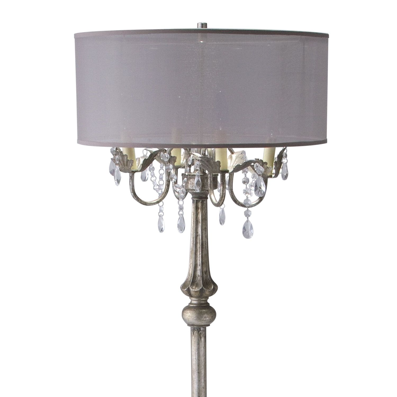 Chandi Lumination The Chandelier floor lamp sparkles with