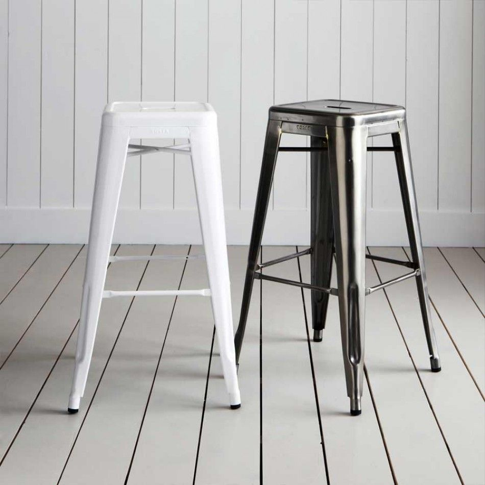 Tolix Tall Metal Bar Stools Kitchen Furniture Kitchen