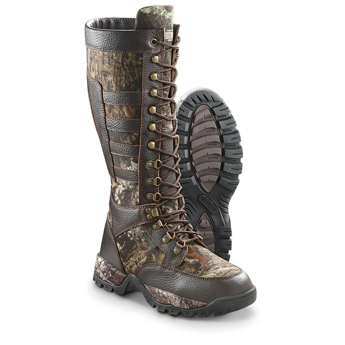4dbf79c9e82 Guide Gear Men's Snake Boots, Mossy Oak Break-Up | Men's Clothing ...